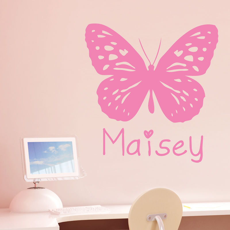 High quality PVC plastic butterfly girl room wall stickers vinyl DIY Home Art Mural wall decals Decoration Y 95 in Wall Stickers from Home Garden