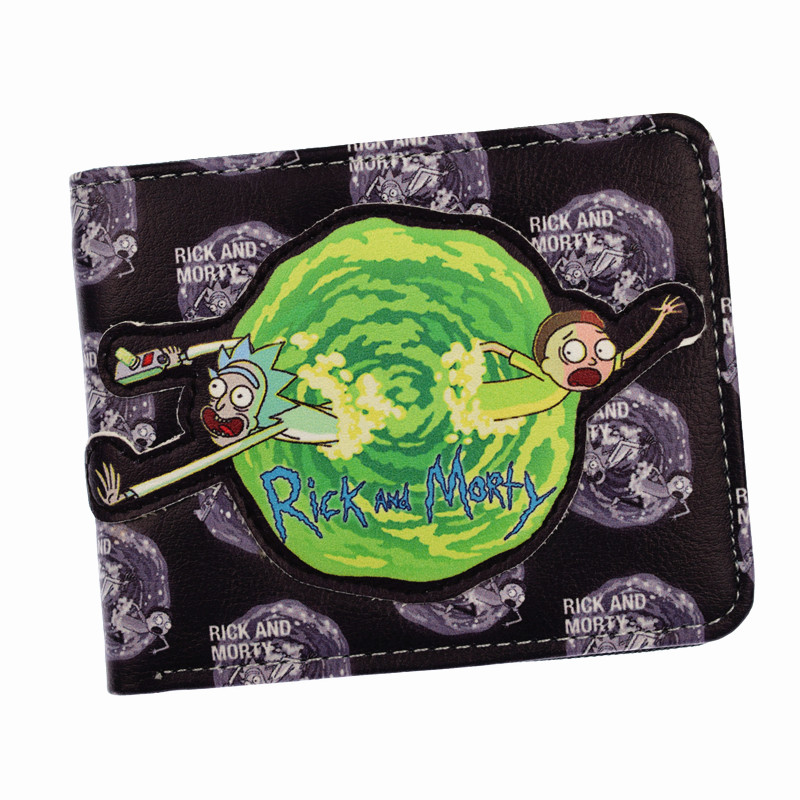 New Arrival Comics Rick And Morty Wallet With Coin Pocket Card Holder Short Coin Purse new arrival cartoon wallets with zipper coin pocket attack on titan dragon ball adventure time short wallet with card holder