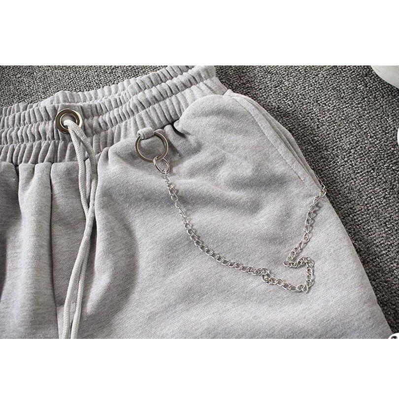 New 2017 Summer Men Shorts Loose Trend Chain Shorts Casual Elastic Cotton Jogger Men Short Pants Bermuda Masculina Plus Size 5XL