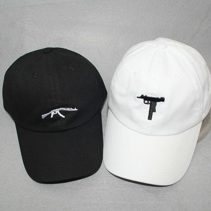 top selling Uzi Gun Baseball Cap US Fashion 2017 Ak47 Snapback Hip hop Cap Curve visor 6 panel Hat casquette de marque