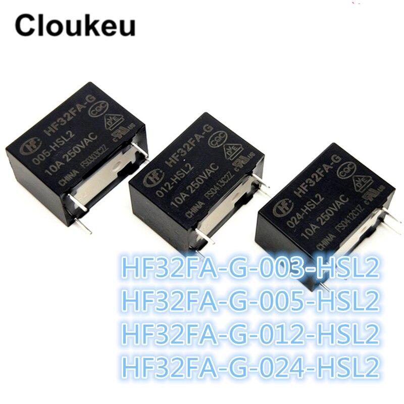 100Pcs Relay DIP4 HF32FA G 003 HSL2 HF32FA G 005 HSL2 HF32FA G 012 HSL2 HF32FA