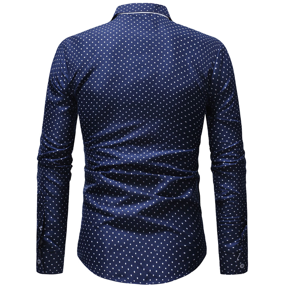 Fashion Print Casual Men Long Sleeve BusinessFashi Shirt Stitching Pocket Design Soft Comfortable Men Brand Dress Slim Fit Style in Casual Shirts from Men 39 s Clothing