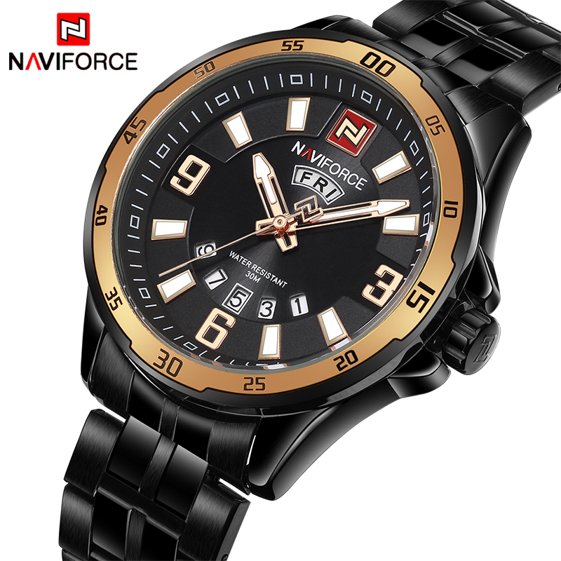 2018 Fashion Luxury Brand NAVIFORCE Men Military Sports Watches Men's Quartz Clock Male Business Wrist Watch Relogio Masculino new listing men watch luxury brand watches quartz clock fashion leather belts watch cheap sports wristwatch relogio male gift