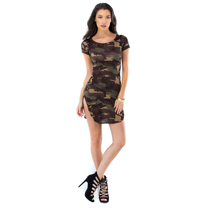 Aliexpress.com : Buy 2016 Summer New Dress Ladies Camouflage Sexy ...