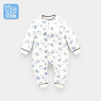 Newborn baby onesies autumn and winter baby clothes winter thick warm cartoon cotton clothes