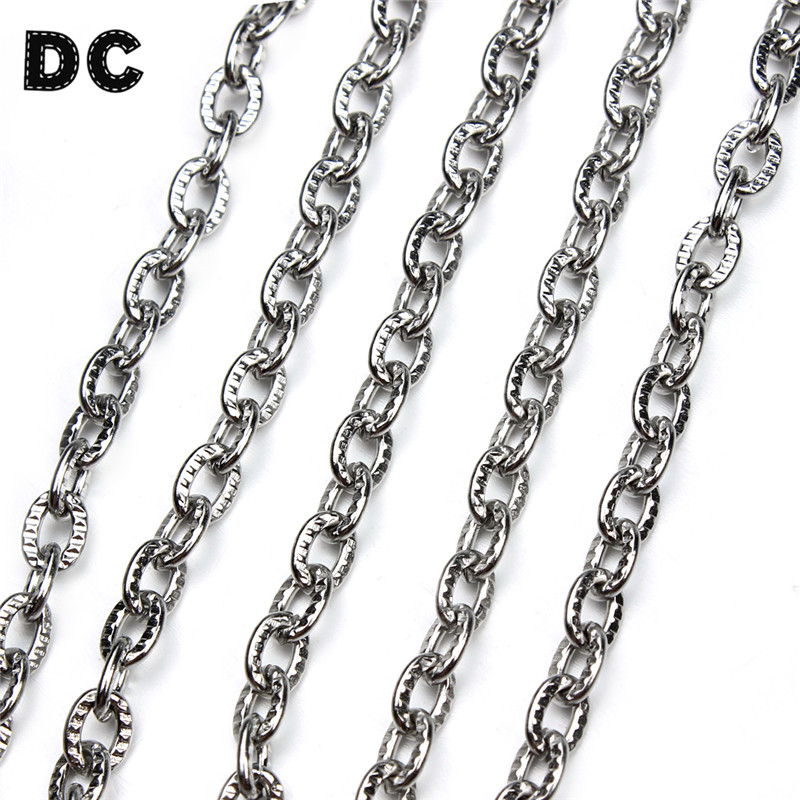 2M 6.56 feet Woven Curb Chain Unfinished Chains Necklaces 3.58mm 4 Colors DIY