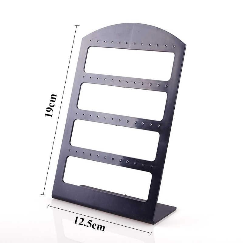 48 穴ジュエリー主催者は黒プラスチック製のイヤリングホルダー Pesentoir ファッションイヤリングディスプレイラック飾り棚