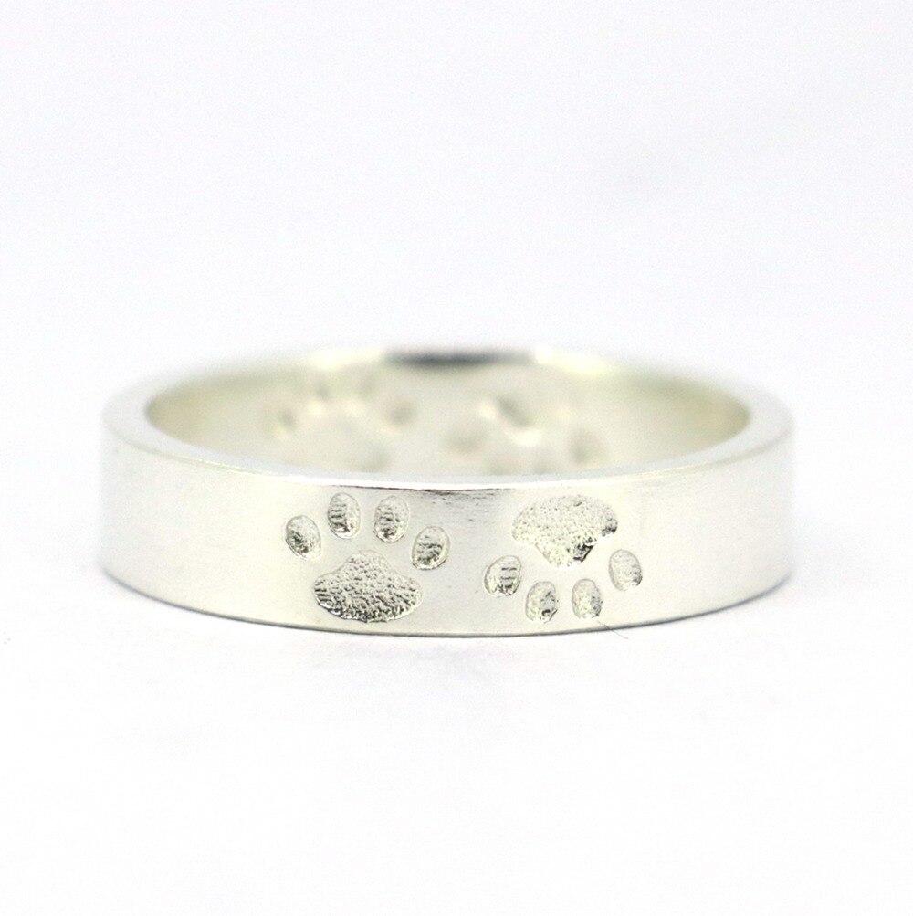 Anillo de pata de cabra de plata de ley 925 macizo, anillo de pata de - Bisutería - foto 2