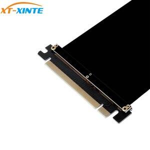 Image 4 - PCI Express x16 כדי PCIE x16 זכר לנקבה גרפיקה כרטיס Riser PCI E PCIE3.0 PCI E 16x סרט הארכת כבל עבור כרייה