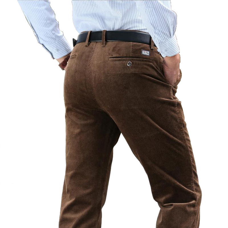 autumn winter thick corduroy pants men cotton pants