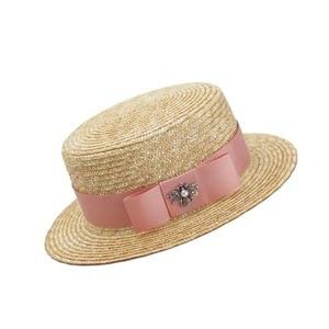 Роскошная брендовая соломенная шляпа для женщин и детей, модная летняя шляпа для девочек, ручная работа, плоская Панама, пляжная шляпа, вечерние