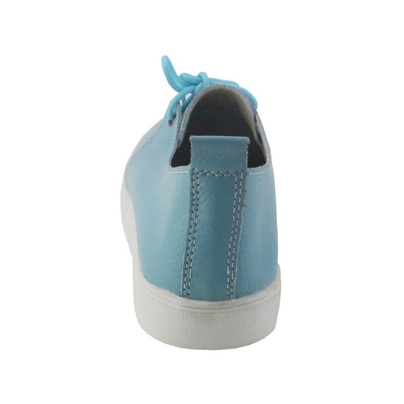 Chaussures Belle Arrivée Femmes Noir Appartements Véritable Bateau Femme En rose Causalité Cuir blanc 2018 Printemps Mocassins De Solide bleu Automne Simples q4nSYgY