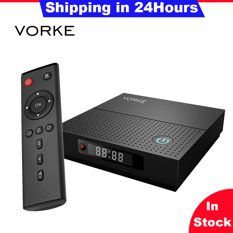 VORKE Z6 Plus Android 7.1.2 Amlogic S912 3GB/32G WIFI BluetoothTV BOX 1000M LAN Support DLNA/Google TV Remote/ 3D Moive