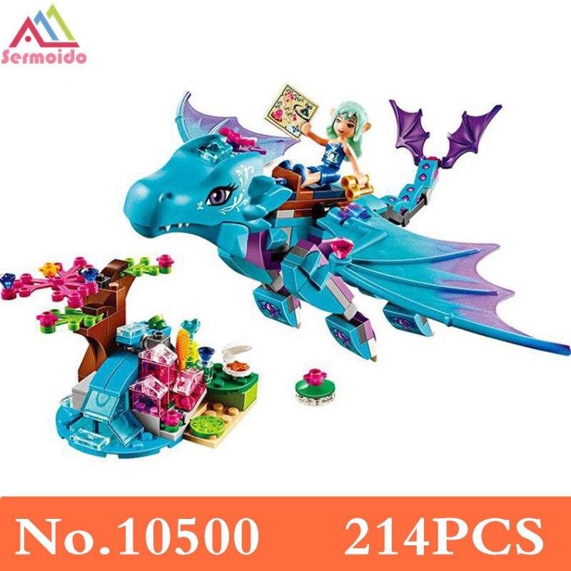 sermoido Fairy Elves The Water Dragon Building Bricks Blocks Sets Girls Christmas gift Toys Compatible Friends 41172 B219