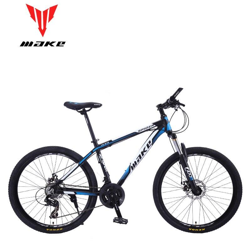 "Top Mountain Bike MAKE 26"" 24 Speed Disc Brakes Aluminium Frame 1"