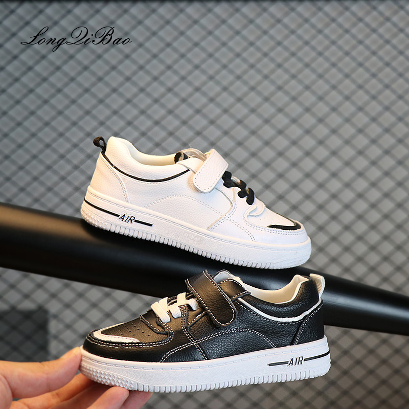 цены 2018 autumn children's white shoes leather shoes boys and girls casual shoes low to help sports shoes Korean version