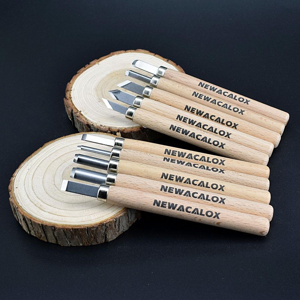 NEWACALOX 10 sztuk Nóż Drzeworyt Scorper Narzędzie do Rzeźbienia - Zestawy narzędzi - Zdjęcie 5