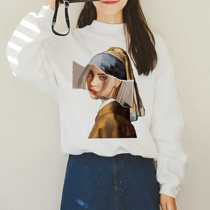 Billie Eilish Harajuku Ullzang Funny Hoodies Women I Am Bad Guy Duh Graphic Fashion Sweatshirt 90s Aesthetic Korean Hoody Female