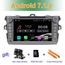 2 GB RAM 8 zoll 1024*600 Android 7.1 Auto Dvd GPS stereo radio für Toyota Corolla 2007 2008 2009 2010 2011 mit BT wifi