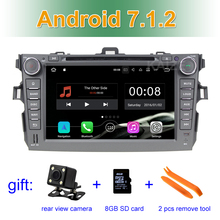 2GB RAM 8 inch 1024*600 Android 7.1 Car DVD Player GPS stereo radio for Toyota Corolla 2007 2008 2009 2010 2011 with BT wifi