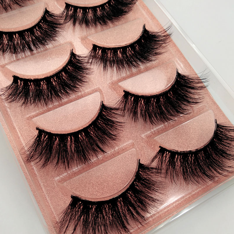 SHIDISHANGPIN 1box Eylashes Mink False Lashes 5pairs Lashes Mink Eyelashes Natrual Makeup 3d Maquiagem