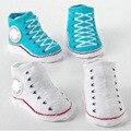 1 пара новорожденных симпатичная носки полосатые теплые открытый ходьбы обувь с резиновой подошве детей детские носки дети носок
