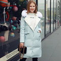 Quintina 2017 New Fashion Women Down Coat Hooded Slim Winter Coat Women's Long Coat Womens Down Jackets Parka