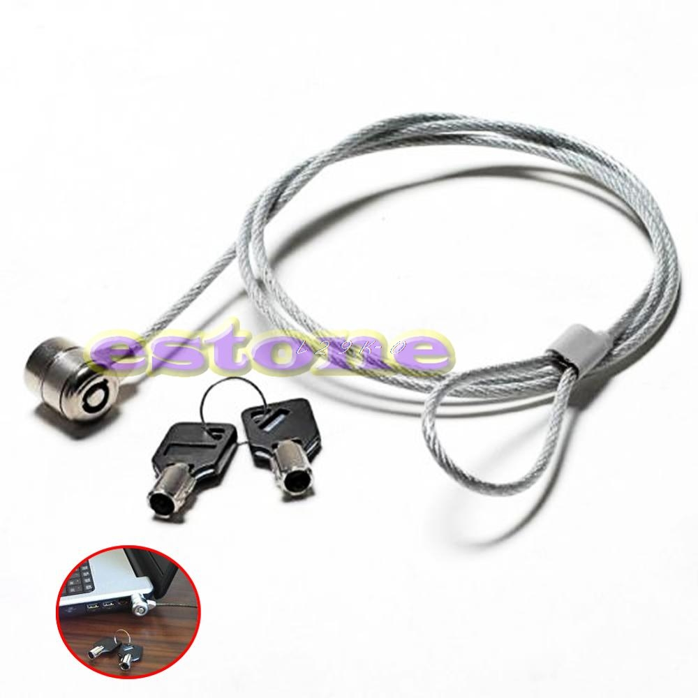 High Quality Notebook <font><b>Laptop</b></font> Computer <font><b>Lock</b></font> Security Security China <font><b>Cable</b></font> Chain With 2 Key Brand New image