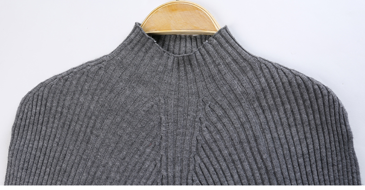 New 17 Spring Fashion Women sweater high elastic Solid Turtleneck sweater women slim sexy tight Bottoming Knitted Pullovers 35