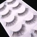5 Pares Natural Longo Escassa Cruz Cílios Postiços Cílios Falsos Extensions Maquiagem Ferramentas