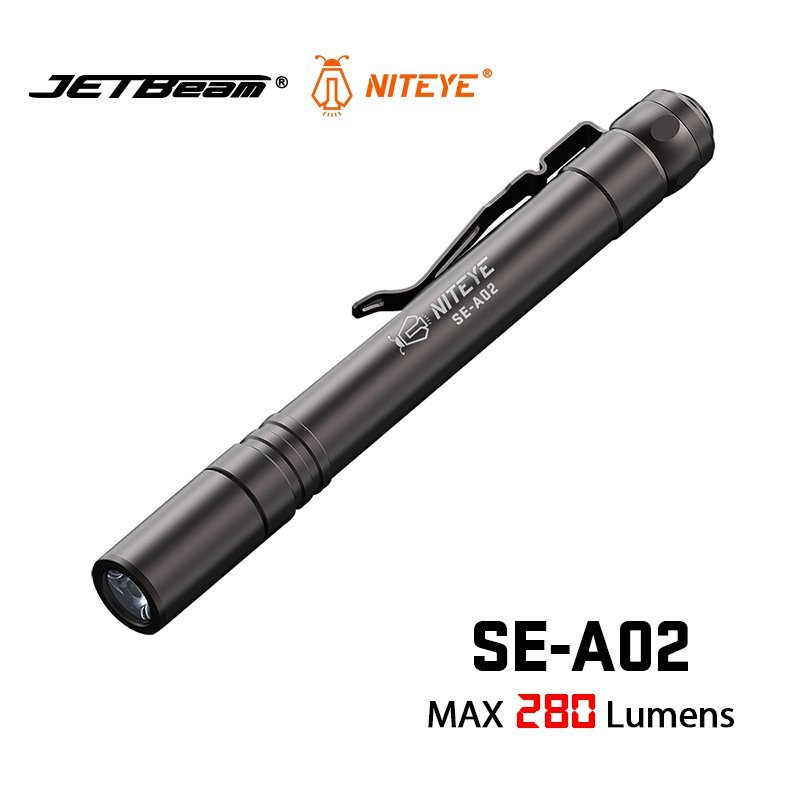 JETBEAM NITEYE SE A02 EDC Torch CREE XPG LED SMO max 280 lumen 860cd beam throw