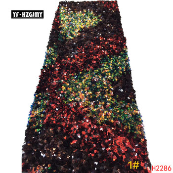 YF HZGJMY African Fabric Lace 2019 High Quality Bridal Dress Multi Color Glitter Tulle Fabric Sequin Nigeria Net Lace  A2286