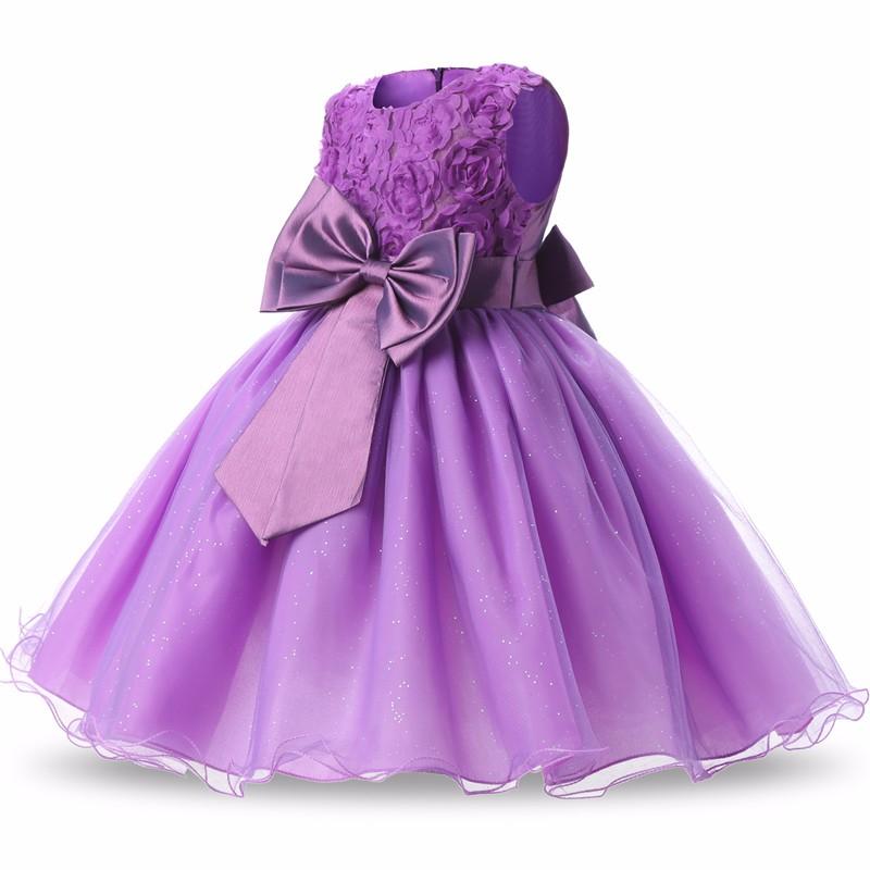 Princess Flower Girl Dress Summer 2017 Tutu Wedding Birthday Party Dresses For Girls Children's Costume Teenager Prom Designs 3