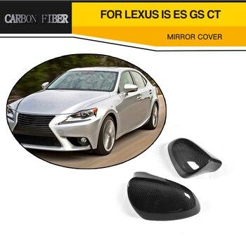 Cubiertas de espejo de carreras trasero de coche de fibra de carbono para Lexus IS ES GS 2013-2017 LHD