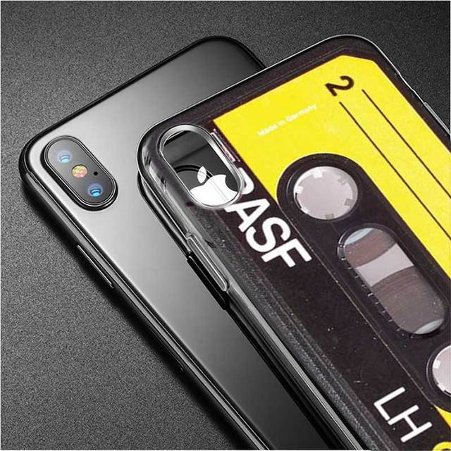 Silicone Phone Case Classical Old Cassette Style for iPhone XS X XR Max 8 7 6 6S Plus 5 5S SE