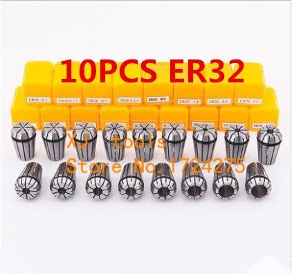 Free Shipping 10PCS for Choose ER ER32 Collet Chuck for Spindle Motor Engraving Grinding Milling Boring