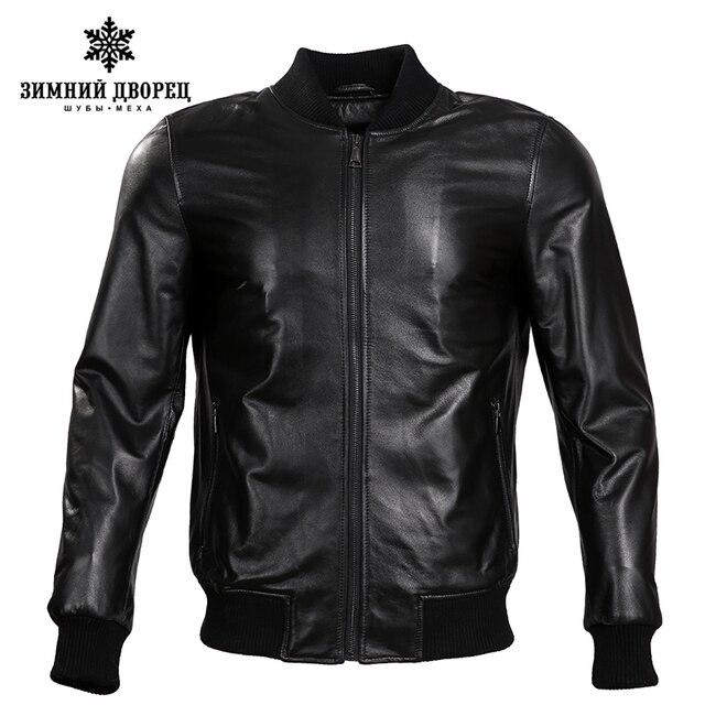 2017 Spring new Fashion leather jacket Short Sheepskin Men leather jacket Classic leather jacket men motorcy Thin leather jacket