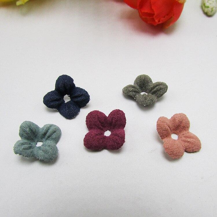 length:1.5cm 4 disc flowers hair accessories Girls Cute Wraped hair accessories decoration materials,DIY handmade,50Y50673