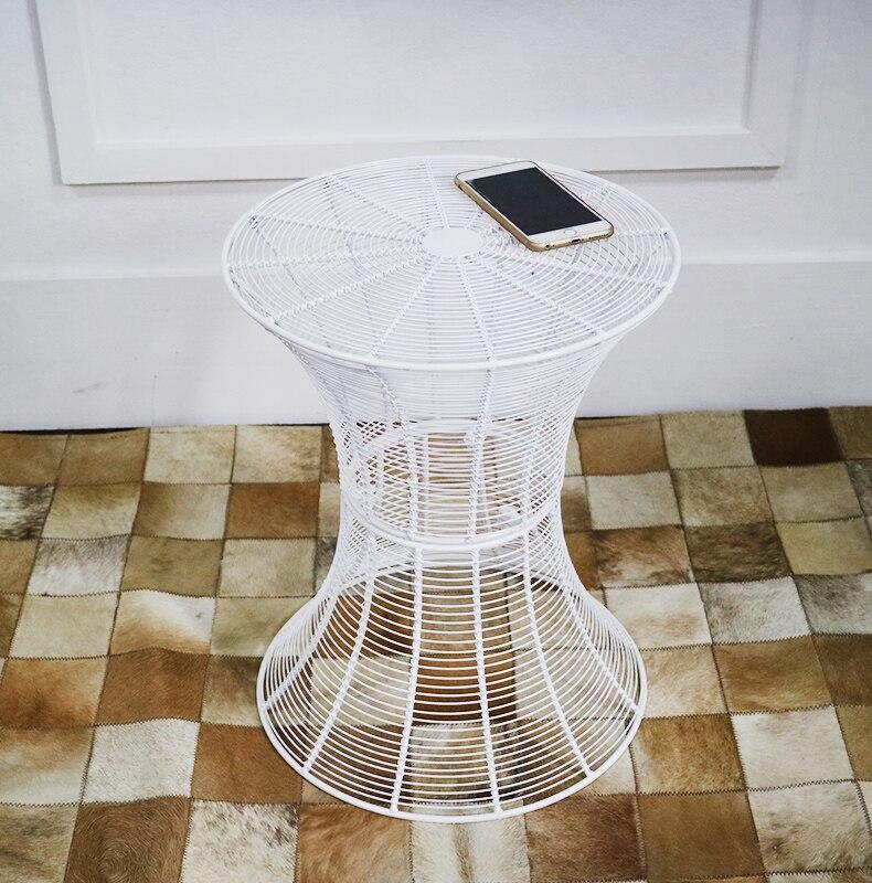 Купить с кэшбэком Metal Wrought Iron Tea Table Simple and Modern Solid Iron Round Table Living Room Creative Coffee Table