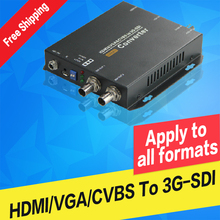 HDMI to SDI  Video Converter 1080P Video Audio Broadcast Grade VGA AV CVBS to SDI  SDI HD 3g-SDI ahd to hdmi vga cvbs converter monitor video to hdmi vga cvbs converter
