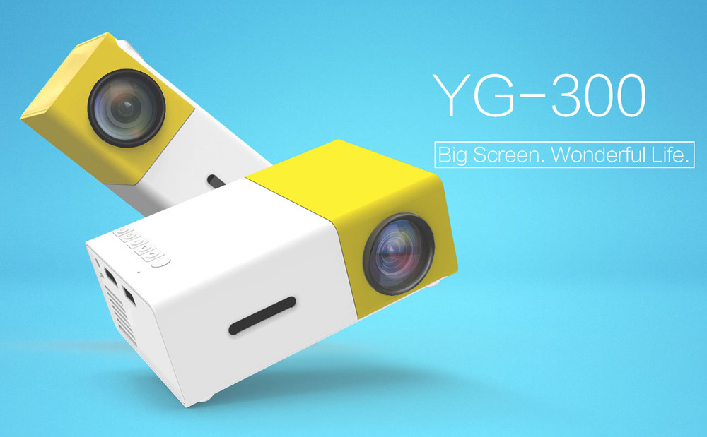 Mais novo Excelvan Mini YG300 Projetor LCD 400 - 600 Lumens 320 x 240 Pixels 3.5mm AudioHDMIUSBSD Entradas Mídia ProyectorBeamer (35)