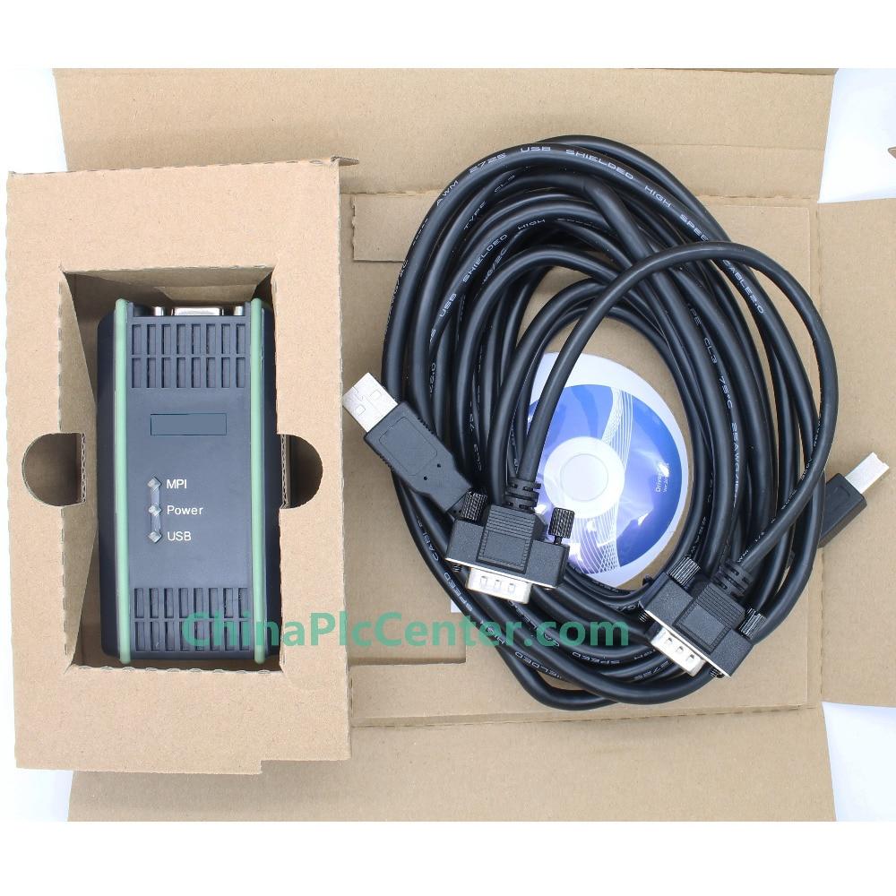 USB MPI PC Adapter USB for S7-200/300/400PLC,MPI/DP/PPI Programming 64bit beautiful gift new usb to rs232 db9 serial com convertor adapter support plc drop shipping kxl0728
