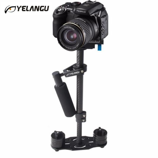 100% Original YELANGU S40T 40cm Carbon Fiber Handheld Stabilizer For Steadicam For Canon DSLR Camera DV Camcorder Sports Camera
