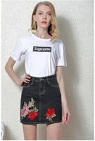 High Waist Double Pockets Women S Fashion Jeans Mini Skirt Female Ladies Faldas Mujer Jupe Embroidery
