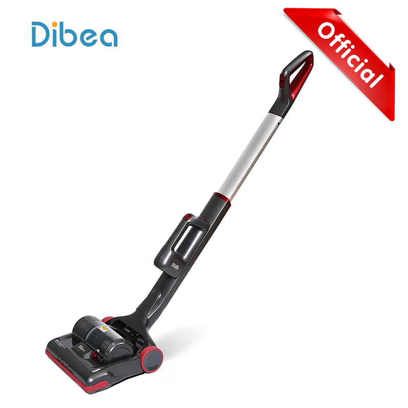 Dibea C01 Cordless Upright Vacuum Cleaner Powerful 2-In-1 Stick And Handheld Vacuum For Carpet Pet Hair With LED Light jiqi vacuum cleaner household small strong divide mite handheld pusher dog and cat pet hair carpet suction machine
