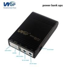 цена 2018 portable mini power bank 5V 12V emergency backup battery 4400mAh ups power bank for wifi router and mobile онлайн в 2017 году
