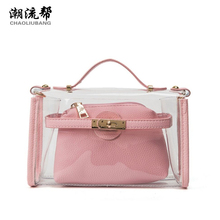 CHAOLIUBANG Summer Beach Bags Fashion Brand PVC Transparent Tote Bag Shoulder Purse Mini Crossbody Bag For Women sac a main