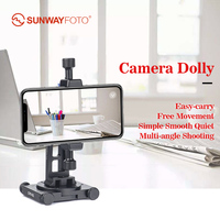 Sunwayfoto CPV 01 Aluminium Cell Phone Panorama Head Stand Dolly Support Smartphone Photography Accessories Without Rail
