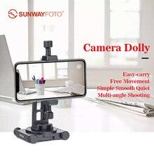 Sunwayfoto CPV-01 Panorama Cabeça de Alumínio de Telefone Celular Suporte suporte smartphone Acessórios fotografia sem Trilho Deslizante Dolly