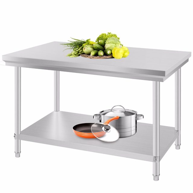 Online Shop Stainless Steel Commercial Kitchen Work Food Prep Table ...